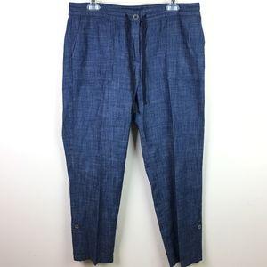 Talbots Drawstring Waist Chambray Pants in Sz 10